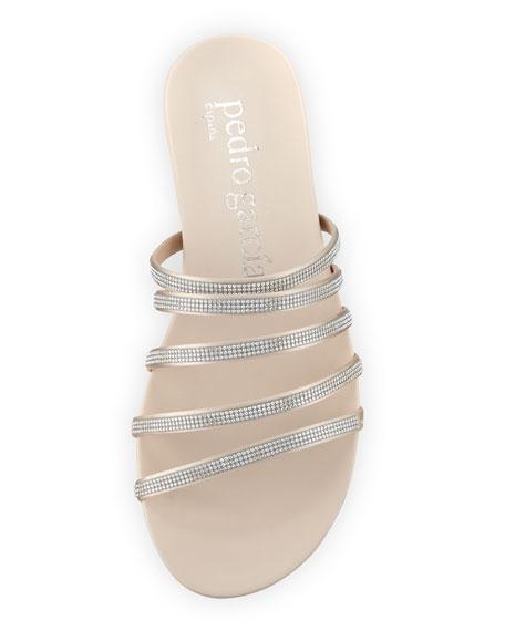 Gala Crystal Multi-Strap Flat Sandals