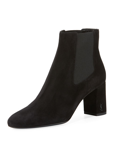 Saint Laurent Lou Lou Suede Gored Boot