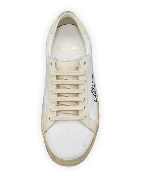 Canvas Logo Low-Top Sneaker