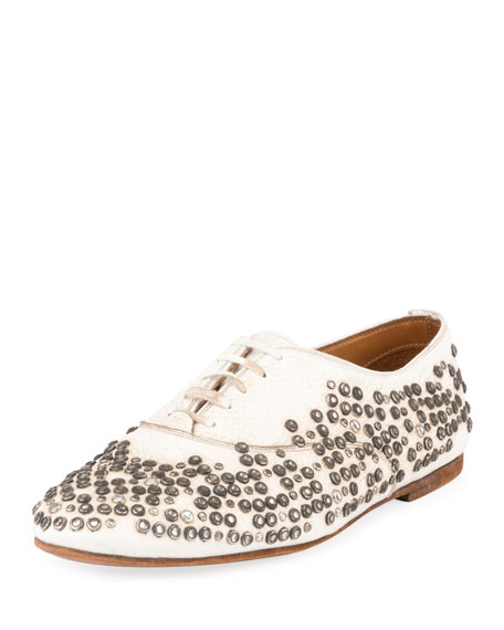 Saint Laurent Unisex Studded Lace-Up Oxford