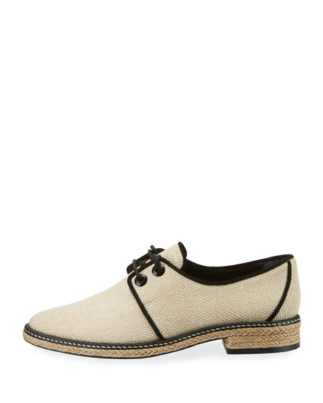 Fawn Canvas Espadrille Oxford