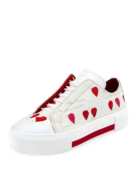 Alexander McQueen Tessu Rose Petal Platform Sneaker
