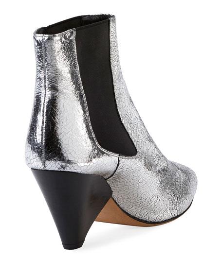 Lashby Cone-Heel Metallic Bootie