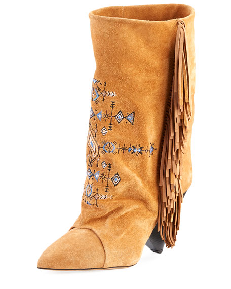 Isabel Marant Lesten Santa Fe Embroidered Boot