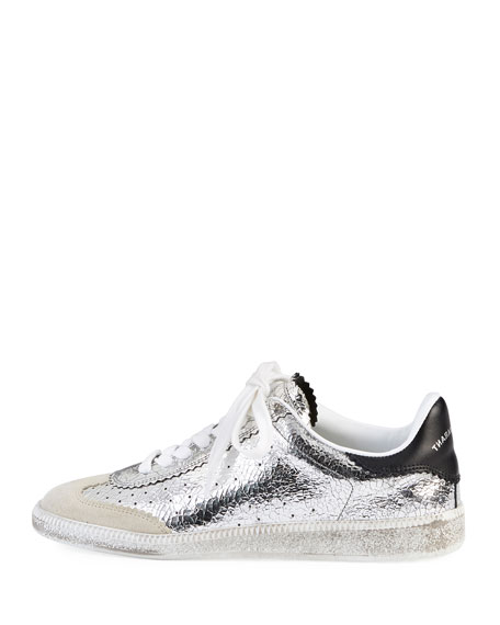 Bryce Metallic Lace-Up Sneakers
