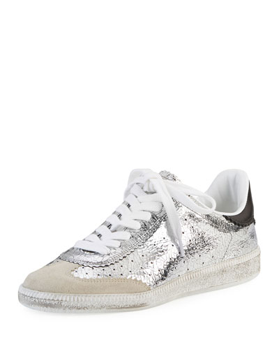 Bryce Metallic Lace-Up Sneaker