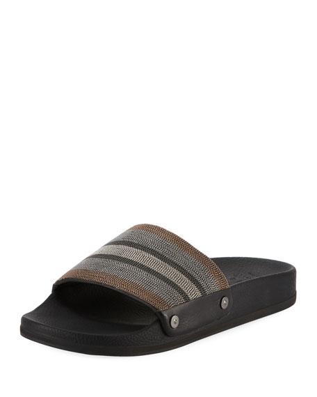 Striped Monili Pool Slide Sandal