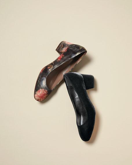 Maren Soft Velvet Low-Heel Pumps