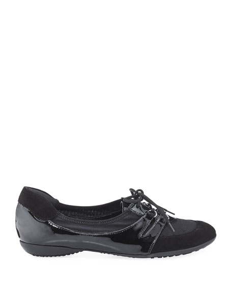 Bonnie Stretch Mixed Sneakers, Black