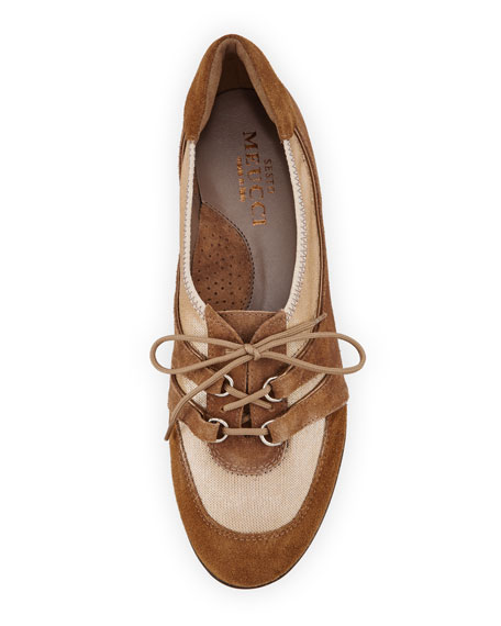 Bonnie Stretch Mixed Sneakers, Camel