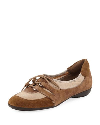 Bonnie Stretch Mixed Sneaker, Camel