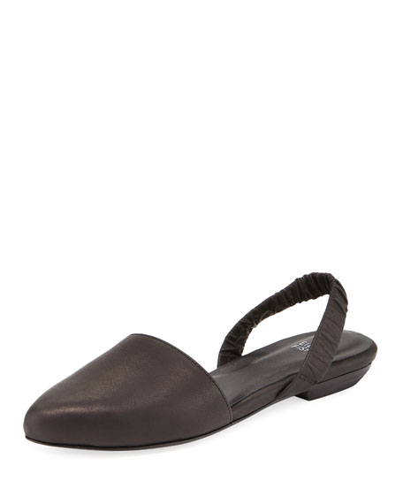 Eileen Fisher Tula 2 Leather Slingback Flat