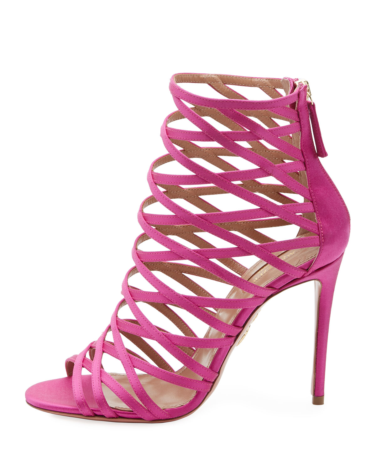 Aquazzura Knockout Caged 105mm Sandal DlkOVNANsi