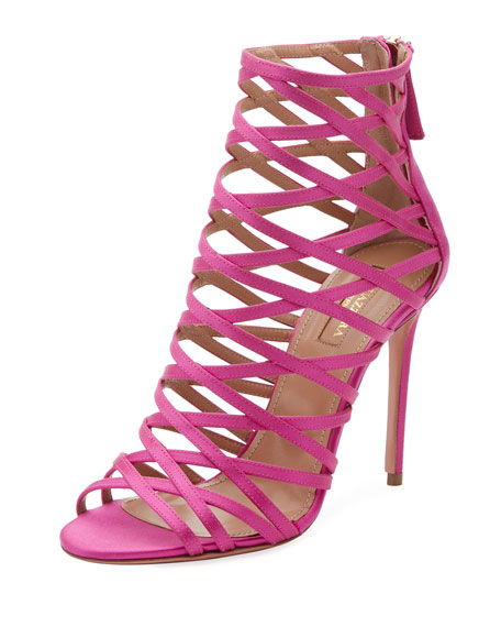 Aquazzura Knockout Caged 105mm Sandal