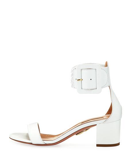 Casablanca 50mm Leather Ankle-Strap Sandals