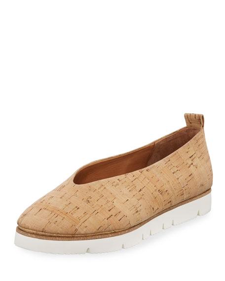 Gentle Souls Demi Comfort Cork Slip-On, Natural