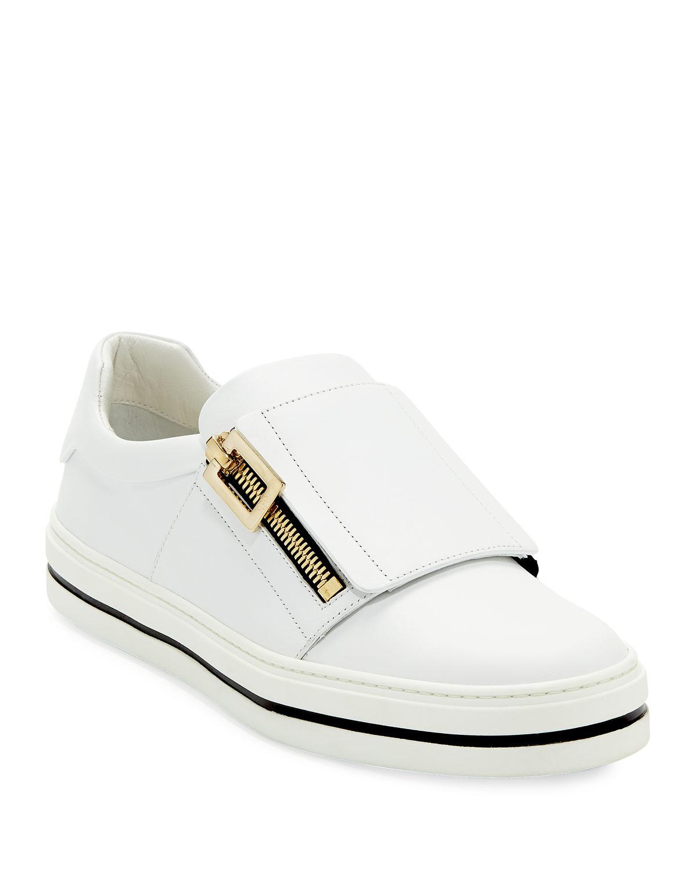 Roger Vivier Sneaky Viv Leather Zip Sneakers  e09c0e0b18664