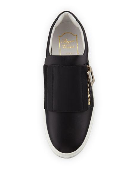 Sneaky Viv Calf Leather Platform Zip Sneaker