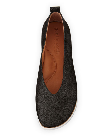 Demi Brushed Glitter Comfort Slip-On