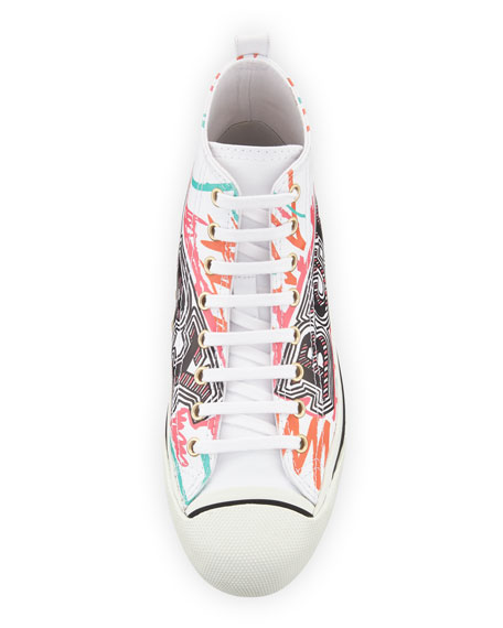 Kingly Marker-Print High-Top Sneaker