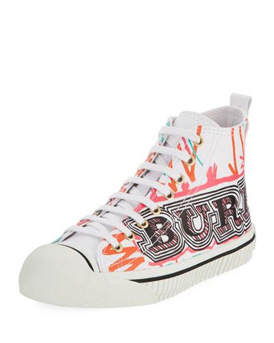 Kingly Marker-Print High-Top Sneaker