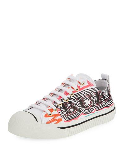 Kingly Marker-Print Low-Top Sneaker