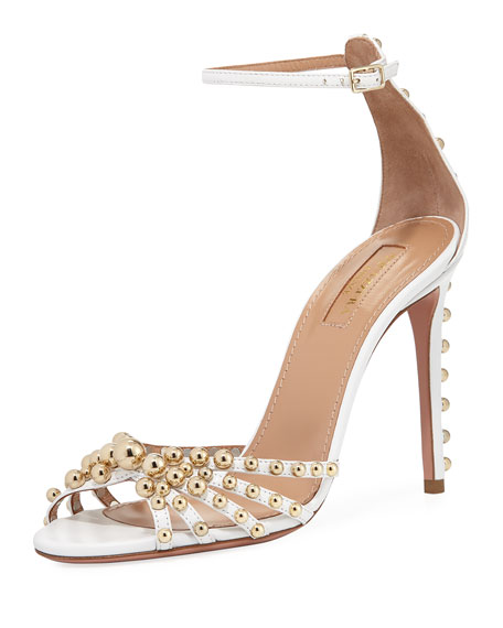 Bon Bon Beaded Ankle-Strap Sandal