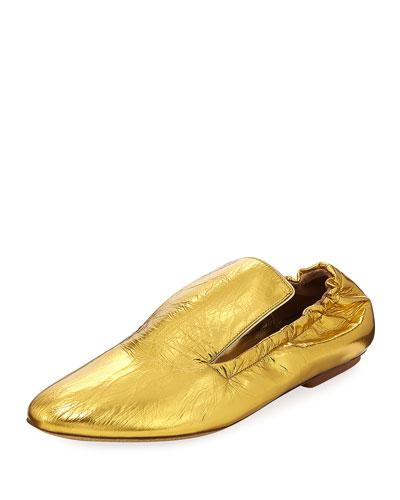 Gath Metallic Leather Loafer