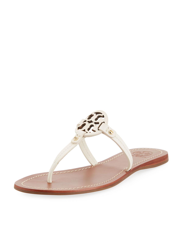 c1f9f269ff25 Tory Burch Mini Miller Leather Flat Thong Sandal