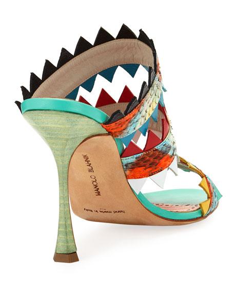 Arpege Strappy Sharkbite Slide Sandal