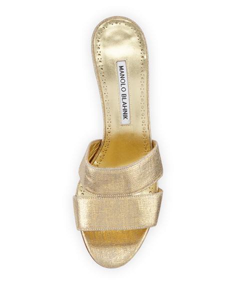 Iacopo Metallic Fabric Sandal