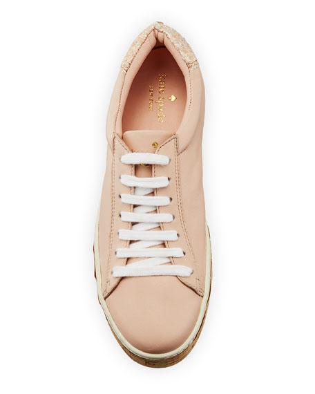 amy cork embellished sneaker, blush