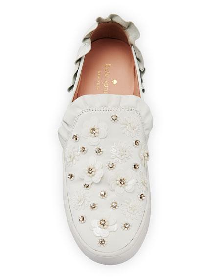 louise floral-embellished sneaker