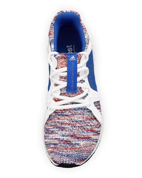 Ultra Boost Knit Trainer Sneakers, Blue/White