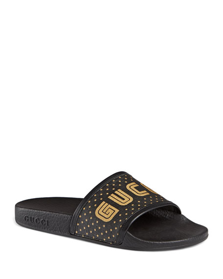 Gucci Guccy Pool Slide Sandals