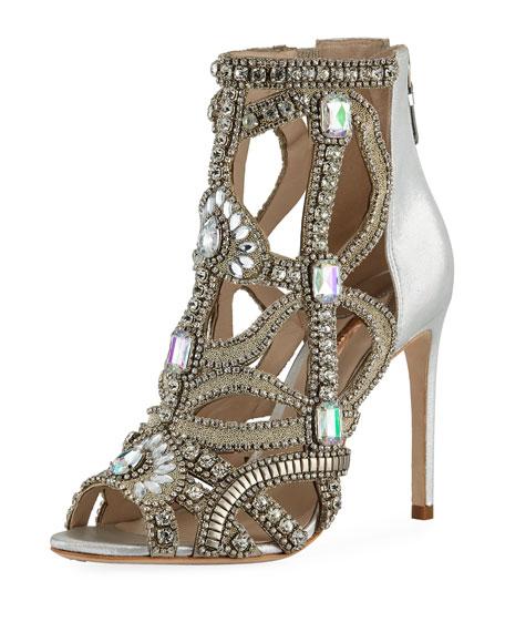 Sophia Webster Iridessa Crystal Sandal Bootie