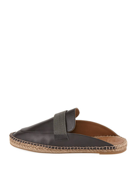 Leather Espadrille with Monili Keeper