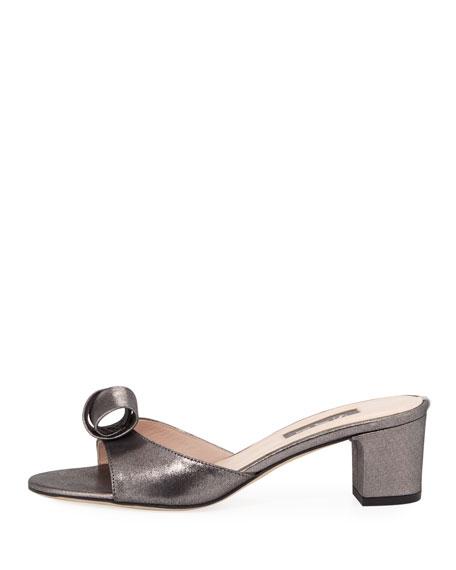 Charlie Leather Slide Sandal