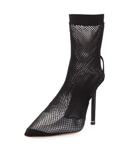 Caden Fishnet Runway High Pump