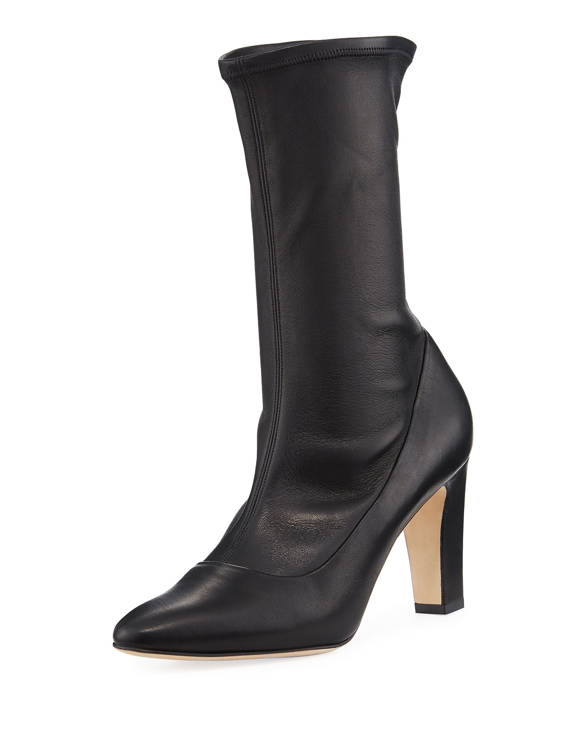 manolo blahnik todi fitted leather ankle boots neiman marcus