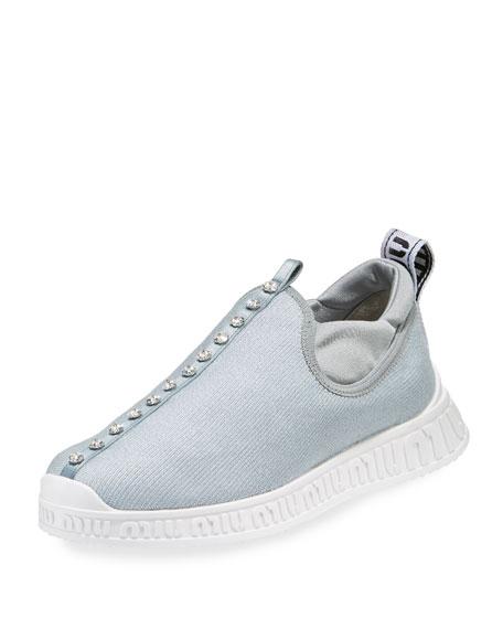 Miu Miu Jeweled Slip-On Trainer Sneaker