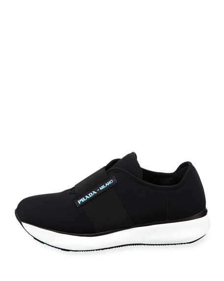 Stretch Neoprene Slip-On Trainer Sneakers