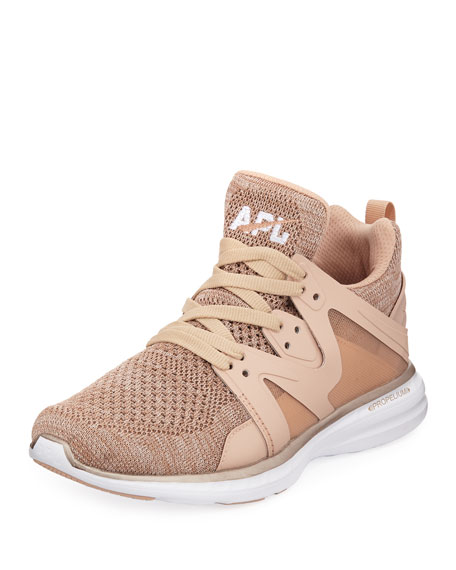 Ascend Metallic Mid-Top Sneakers