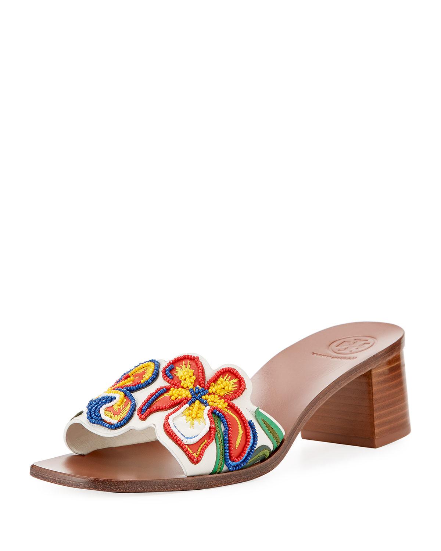 c0b3ef63a5e9 Tory Burch Bianca Flower Slide Sandal