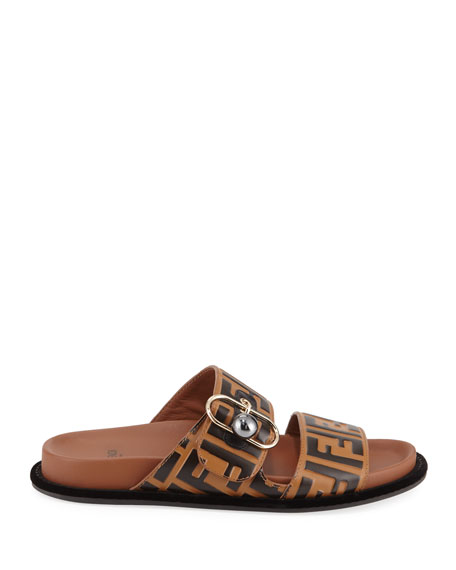 Pearland FF Leather Slide Sandal
