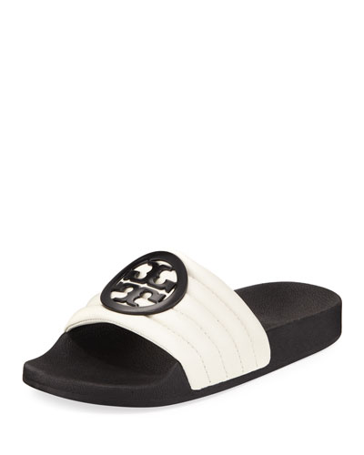 Lina Two-Tone Padded Slide Sandal