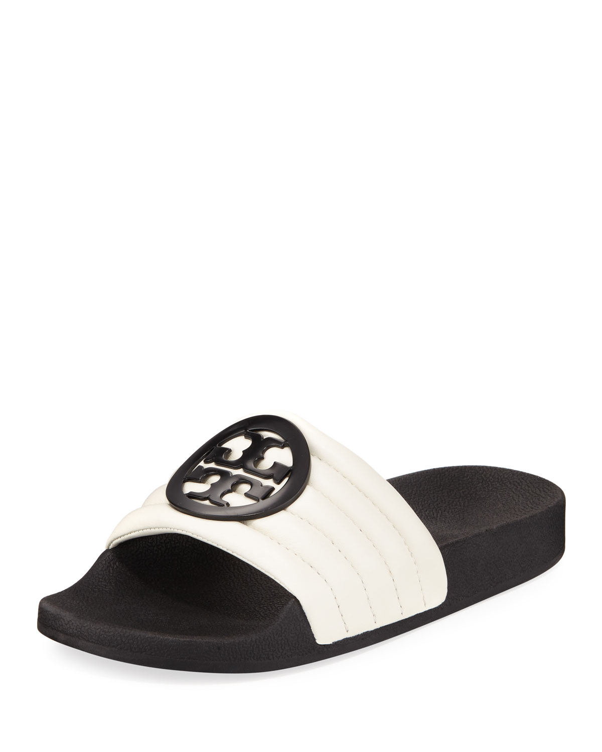 a7073a5ce713e Tory Burch Lina Two-Tone Padded Slide Sandal
