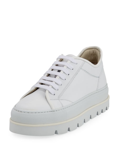 Maison Margiela Leather Platform Sneakers VznxFEya