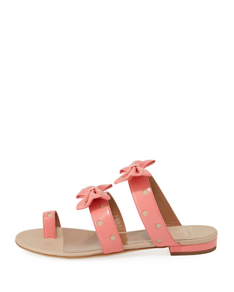 Polka-Dot Bow Slide Sandal