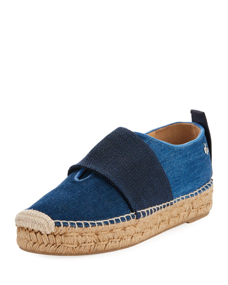 Rag & Bone Nina Denim Slip-On Espadrille, Blue